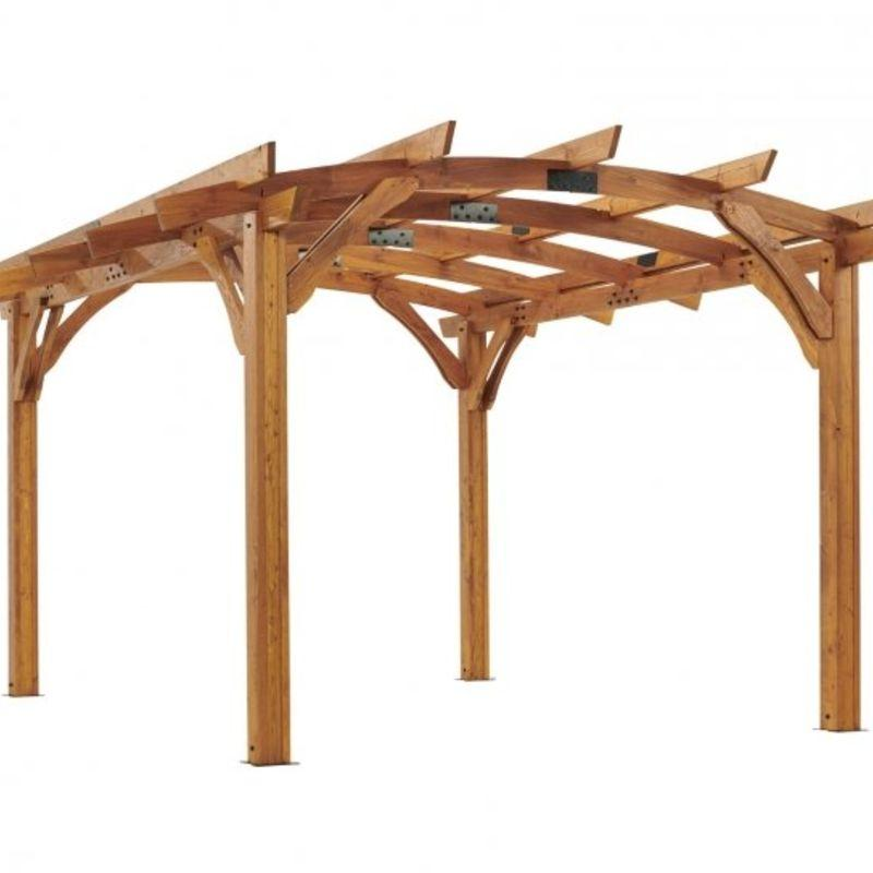 Wood Pergola Kit 12 x 16 Redwood Sonoma