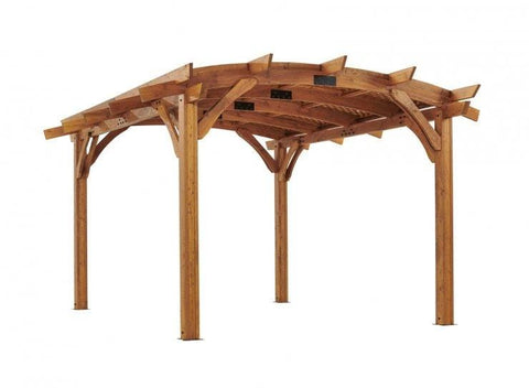 Image of 12x16' Redwood Sonoma Wood Pergola Kit