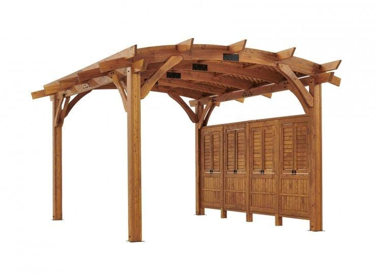 12x16' Redwood Sonoma Wood Pergola Kit