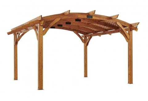 Redwood Wood Lattice for 16 x 16' Sonoma Pergola