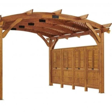 16x16' Redwood Sonoma Wood Pergola Kit