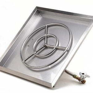 True Flame Square Drop-in Pan Fire Pit Burners