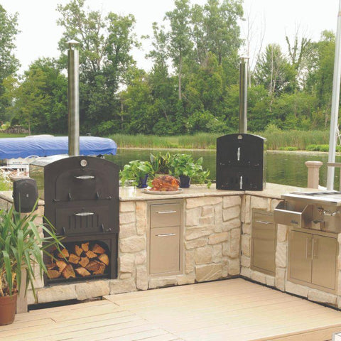 Image of Tuscan GX-C2 Deluxe Family Pizza Oven With Cart