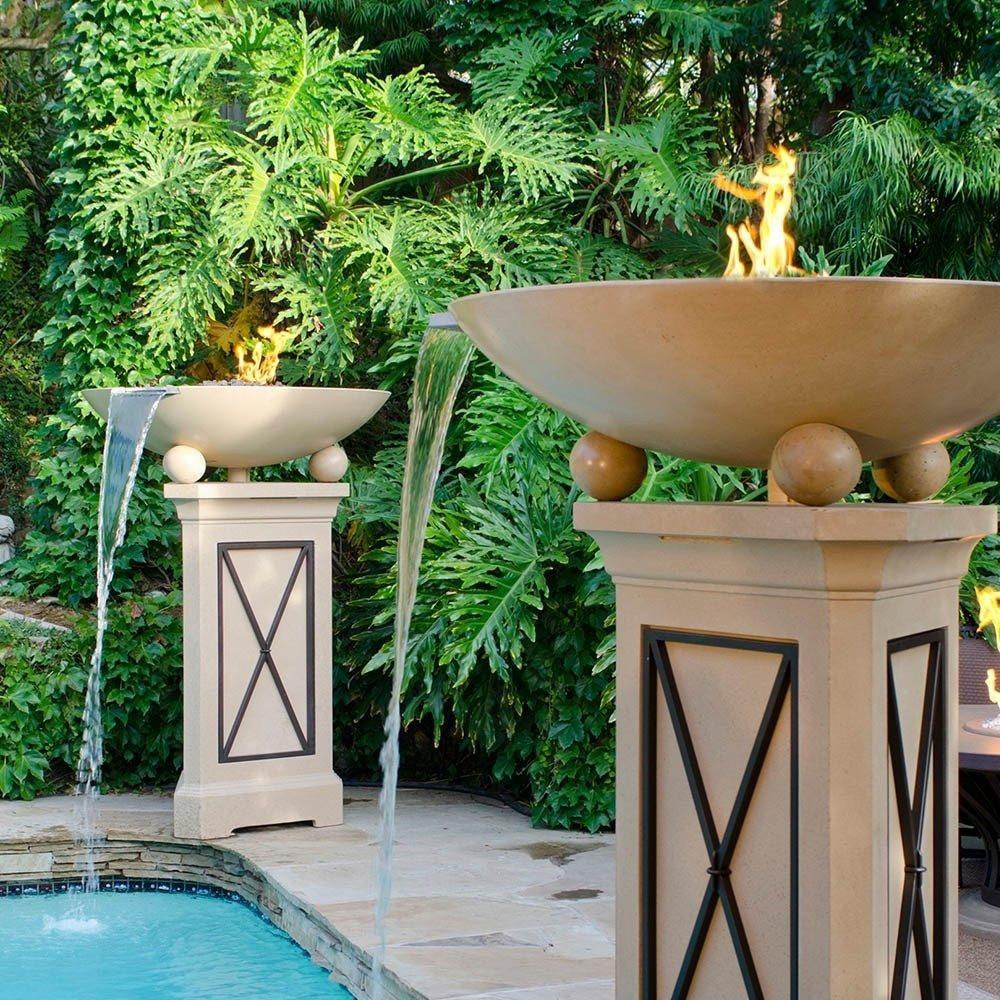 Versailles Fire Bowls with Water Spout & Ball Feet
