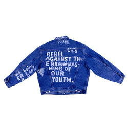 Reworked 'Rebel Against' Denim Jacket - The BW Collection - 1