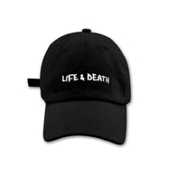 SS'17 'Life & Death' Embroidered Cap - Black