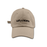SS'17 'Life & Death' Embroidered Cap - Khaki