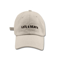 SS'17 'Life & Death' Embroidered Cap - Stone