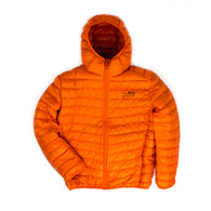 Signature 'Logo' Puff Jacket - Orange