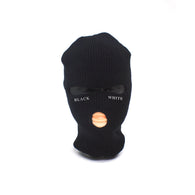 Signature 'Black & White' Ski Mask - Black