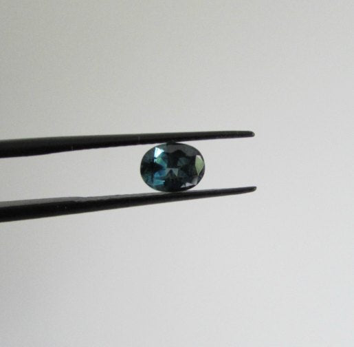 Teal blue and green 1ct natural oval Australian sapphire
