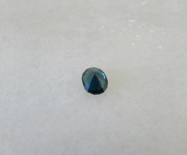 Deep blue-teal 1ct natural oval Australian sapphire