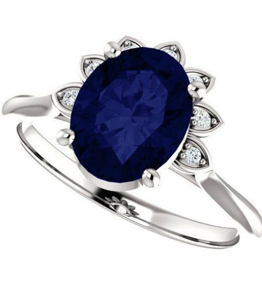 Diamond crown 4-prong ring setting - Create your own ring