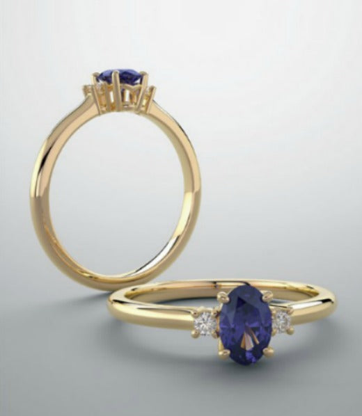 Shoulder diamond accented ring setting - Create your own ring