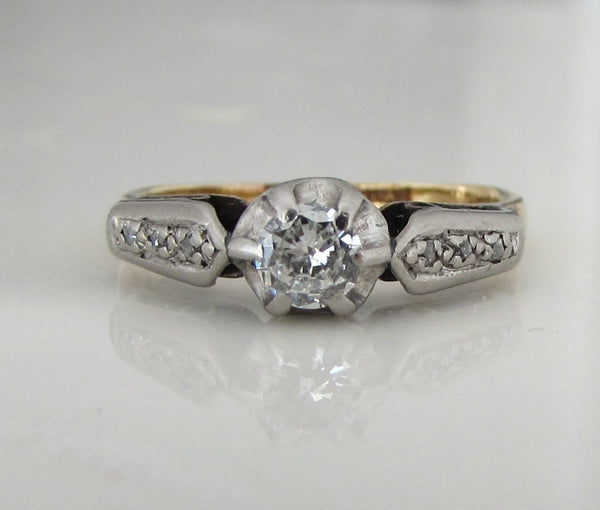 Art Deco 18ct and platinum diamond ring