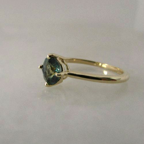 1ct NATURAL AUSTRALIAN PARTI SAPPHIRE RING