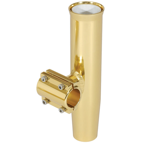 "Lee's Clamp-On Rod Holder - Gold Aluminum - Horizontal Mount - Fits 2.375"" O.D. Pipe"