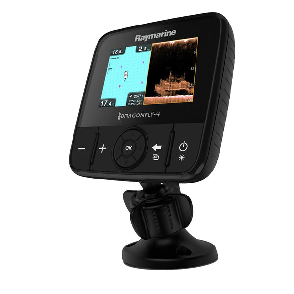 Raymarine Dragonfly 4PRO CHIRP Sonar/GPS w/DownVision™ Plus Conventional Sonar & US Lakes, Rivers & Coastal Maps