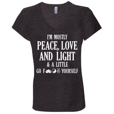 Peace, Love, And Light V-Neck Tee