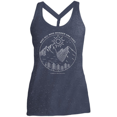 Not All Who Wander Are Lost Twist Back Tank