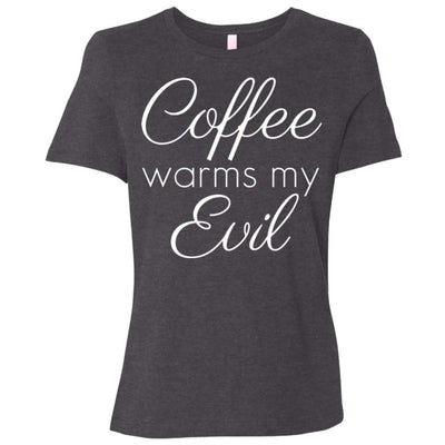 Coffee Warms My Evil Relaxed Fit Tee