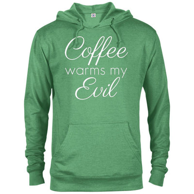 Coffee Warms My Evil French Terry Hoodie