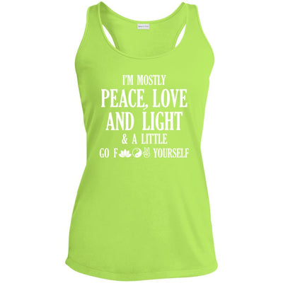 I'm Mostly Peace, Love And Light Performance Tank