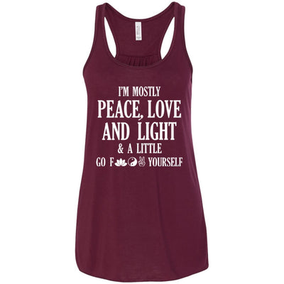 I'm Mostly Peace, Love And Light Flowy Tank