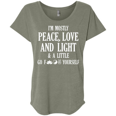 I'm Mostly Peace, Love And Light Scoop Tee