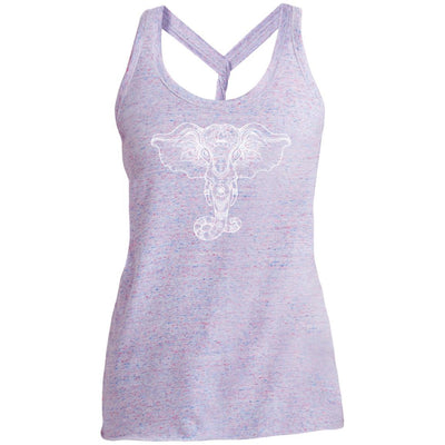Elephant Mandala Twist Back Tank
