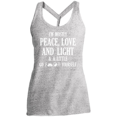 Peace, Love, And Light Twist Back Tank
