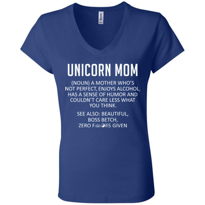 Unicorn Mom V-Neck Tee
