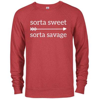 Sorta Sweet Sorta Savage French Terry Pullover