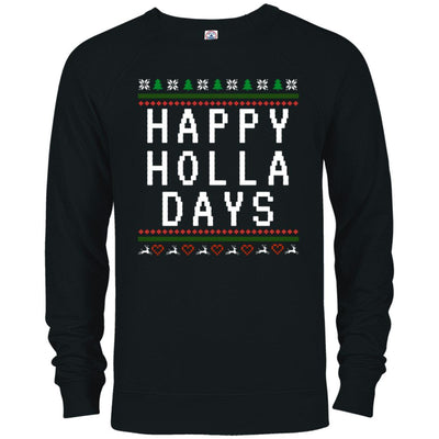 Happy Holla Days French Terry Pullover