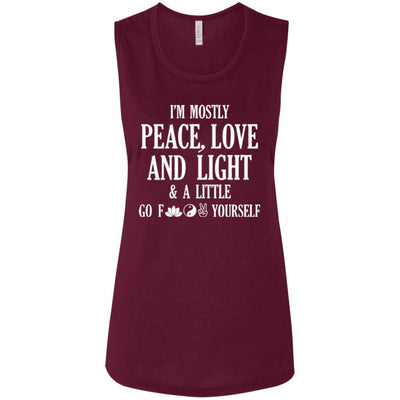 I'm Mostly Peace, Love And Light Muscle Tank