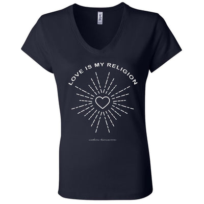 Love Is My Religion V-Neck Tee