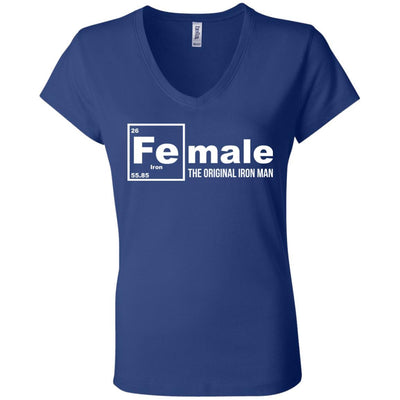Female: The Original Iron Man V-Neck Tee