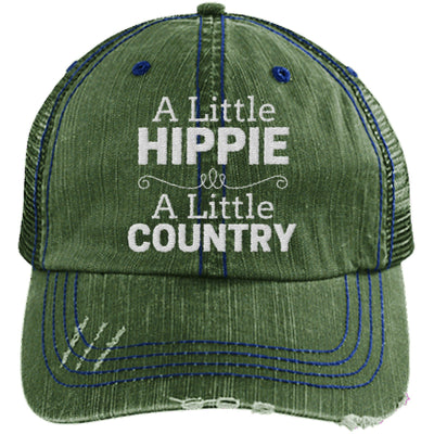 A Little Hippie A Little Country Unstructured Trucker Hat