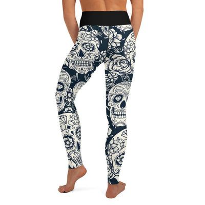 Sugar Skull High Waist Leggings
