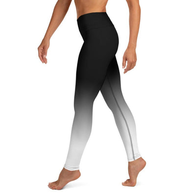 Black & White Ombre High Waist Leggings