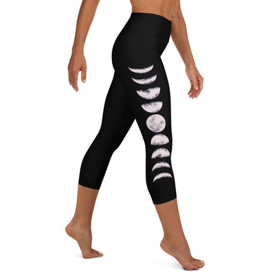 Moon Phases High Waist Capris