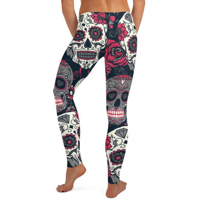 Pink Sugar Skull Leggings