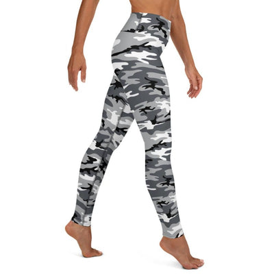 Black & White Camo High Waist Leggings