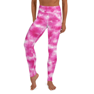 Pink Tie Dye High Waist Leggings