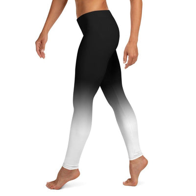 Black & White Ombre Leggings