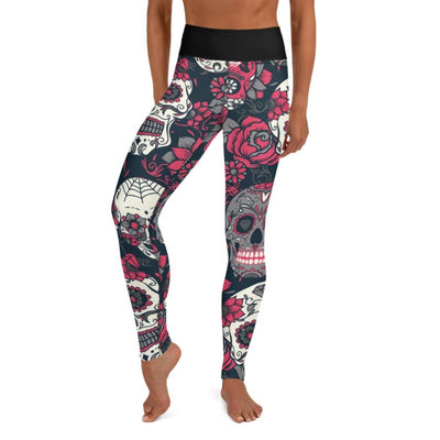 Pink Sugar Skull High Waist Leggings