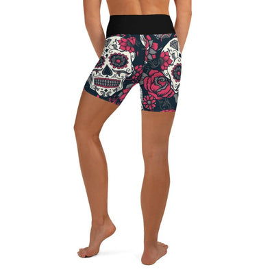 Pink Sugar Skull High Waist Shorts
