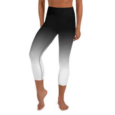 Black & White Ombre High Waist Capris
