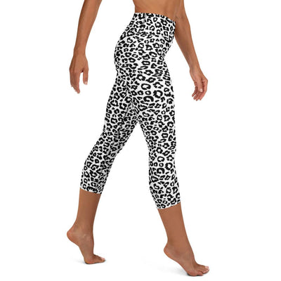 Snow Leopard High Waist Capris