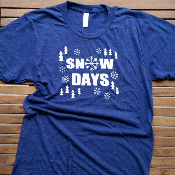 Snow Days adult unisex tee (size XL only)